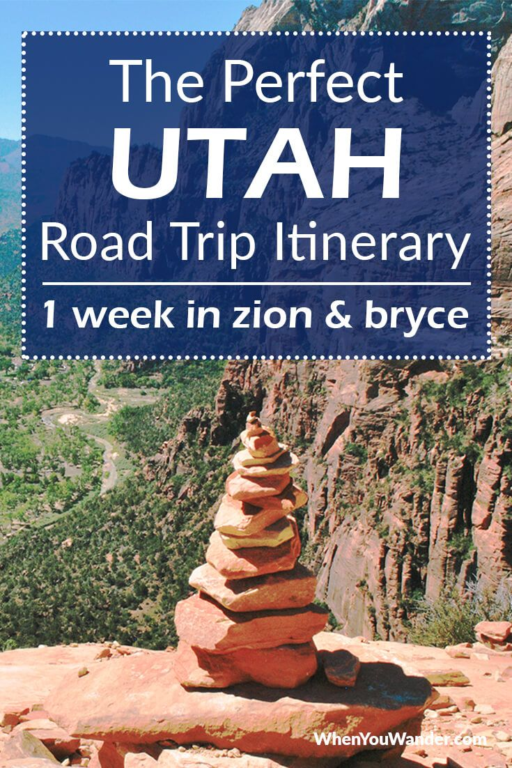 Utah Road Trip Itinerary: A week in zion and bryce canyon