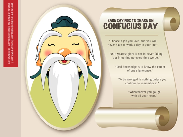 There are 15 Sage Sayings to Share On Confucius Day.