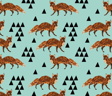 foxes yoga fabric - photo #13