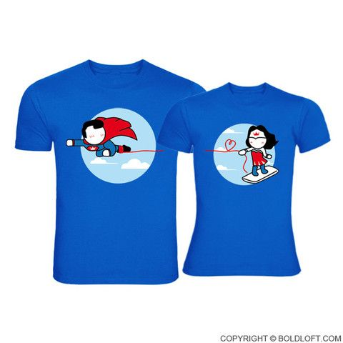 Made for Loving You™ Couple T-Shirts Blue ... BoldLoft tshirts for couples