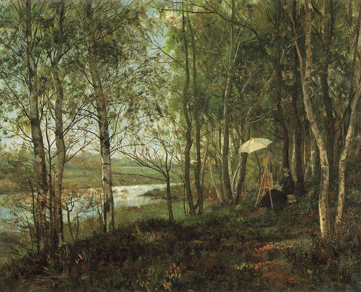 The Athenaeum - Landscape in Cernay-la-Ville (Harriet Backer - )