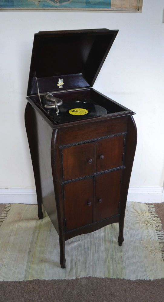 Vintage Gramophone Cabinet Retro Music Player - 41 Best Gramophone History Images On Pinterest Kleding