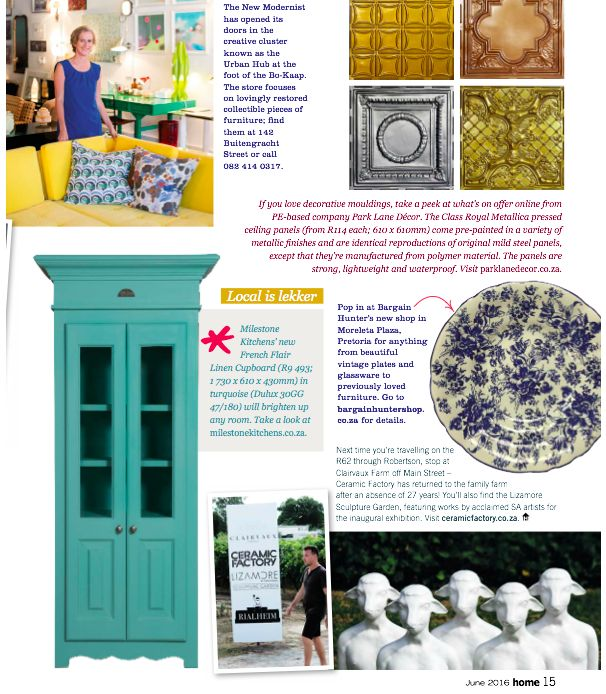 One again the Milestone Kitchens French Flair linen cupboard features in one of South Africa's top home decor magazines. #HomeMagazineSA