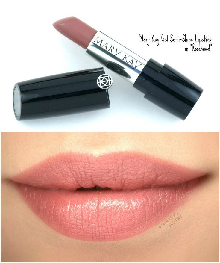 """Mary Kay Gel Semi-Shine Lipstick in """"Rosewood"""": Review and Swatches"""