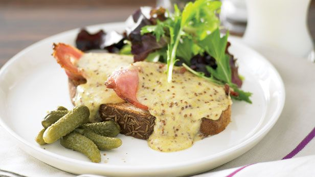 Recipes+ shows you how to make this Welsh rarebit and bacon recipe.