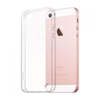 Coque Silicone iPhone 5 / 5s / SE transparente souple ultra fine_0