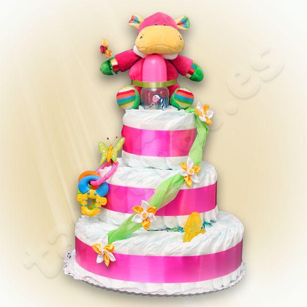 Nuestra tarta mas televisiva, entregada a un concursante del programa la Bascula de Canal Sur, fina y elegante como una Dama de Honor. http://regalosoriginalesdebebe.es/tarta-de-panales-tres-pisos/154-tarta-de-panales-dama.html
