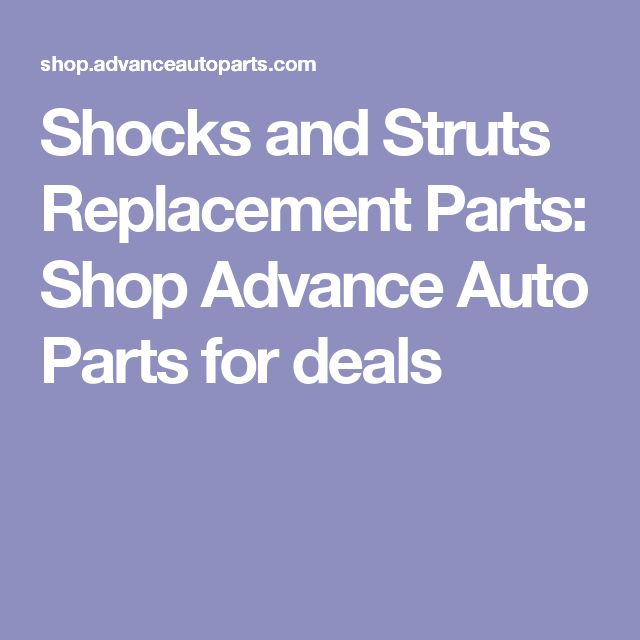 8 best auto maintenance images on pinterest auto maintenance 2006 and strut replacement parts at advance auto parts find shock absorbers coil springs strut mounts and more quality auto parts at discount prices fandeluxe Images