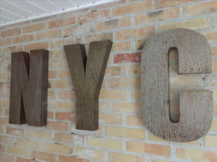 N.Y.C steel letters. Raw look. Homemade