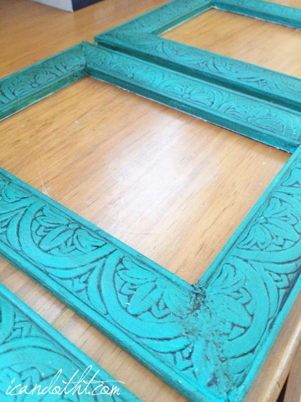 Annie Sloan chalkboard paint frames