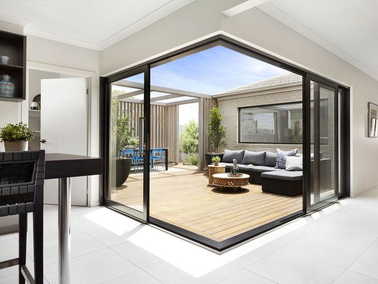 many luxury custom homes have sliding glass doors
