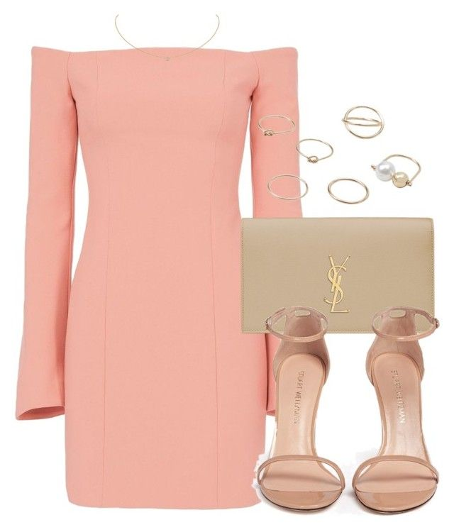 """""""Untitled #12276"""" by vany-alvarado ❤ liked on Polyvore featuring Cinq à Sept, Yves Saint Laurent, Stuart Weitzman, MANGO and Cartier"""