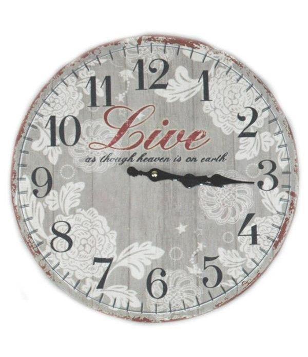 Zegar na ścianę MDF 34 cm - ozdobny dodatek na ścianę