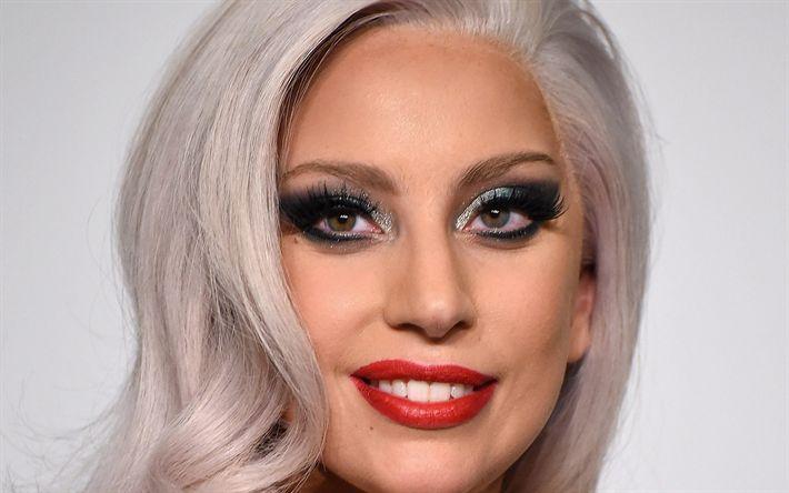 Télécharger fonds d'écran Lady Gaga, portrait, blonde, superstars d'Hollywood, de la beauté