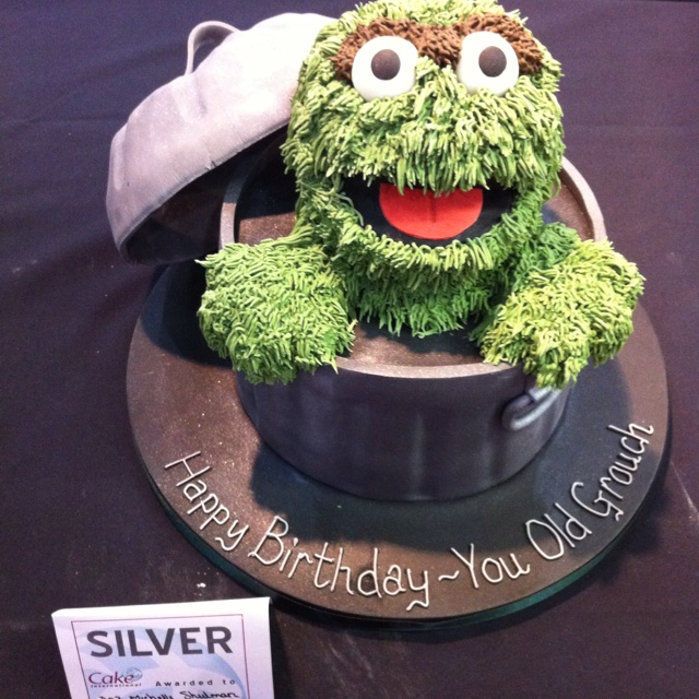 Oscar The Grouch Birthday Cake By Cakes By Shelly Www