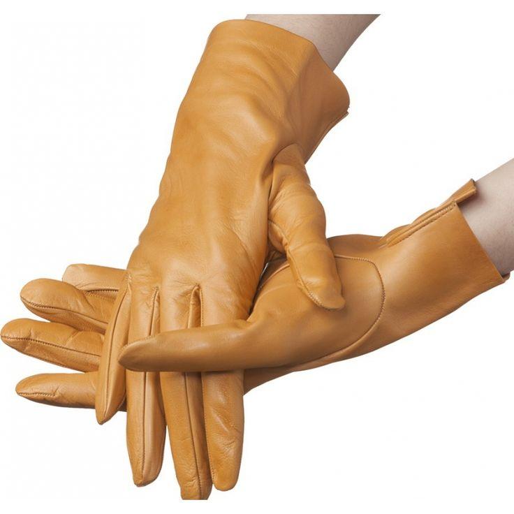Flora – unlined lambskin gloves, cork color
