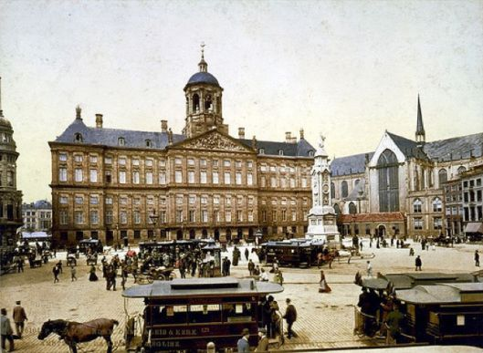 The center of Amsterdam, The Netherlands