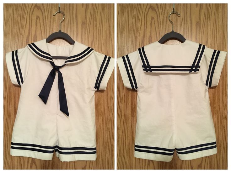 Sailor outfit toddler sewn by Linh Hatzenbuehler