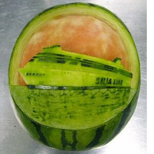 Best Watermelon Carving Images On Pinterest Carved - Incredible sculptures carved watermelon