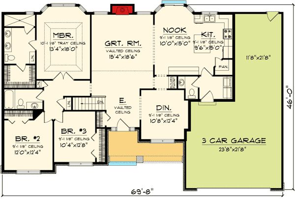 Affordable ranch home plan 89848ah 1st floor master for Cheap ranch style house plans