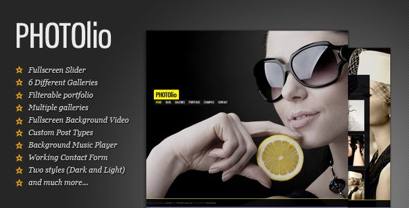 PHOTOlio wordpress theme