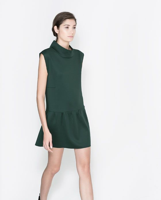 Image 2 of FUNNEL NECK DRESS from Zara