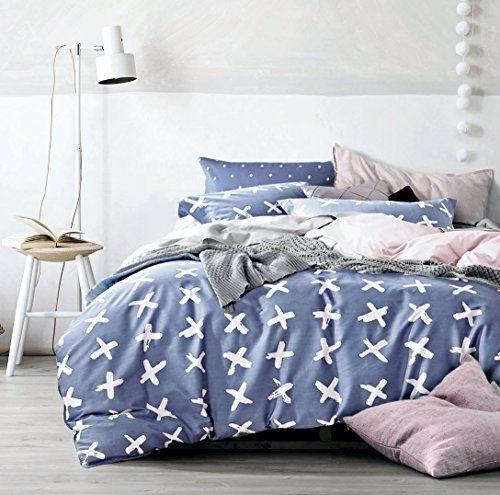 minimal style geometric shapes duvet quilt cover midcentury modern geo print cotton bedding set soft casual simplistic triangle stripes chevron