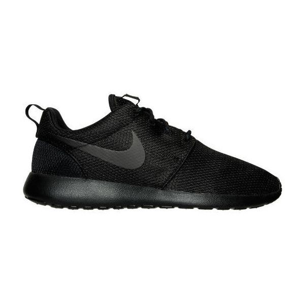 Nike Women's Roshe One Casual Shoes ($75) ❤ liked on Polyvore featuring  shoes,. Wide ShoesBlack ShoesShoe ...