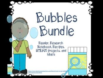 This bubbles bundle has everything you need for your bubbles learning needs! There are readers, labels for bubble containers, recipes, STEAM projects, and more! It is a one click remedy for a unit of Bubbles for ELA and Science! Enjoy!Click on the green star to follow me and receive email notifications of upcoming sales, freebies, and uploaded products hot off the presses!Give a little feedback to not only help me better serve you but also to earn tpt credits you can spend on your next tpt…