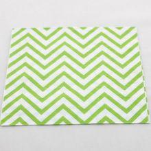 80 stks goedkope decoratieve verjaardag kerst bruiloft vakantie groene chevron papier servetten, levering 3 dagen op bestellingen over $100(China (Mainland))