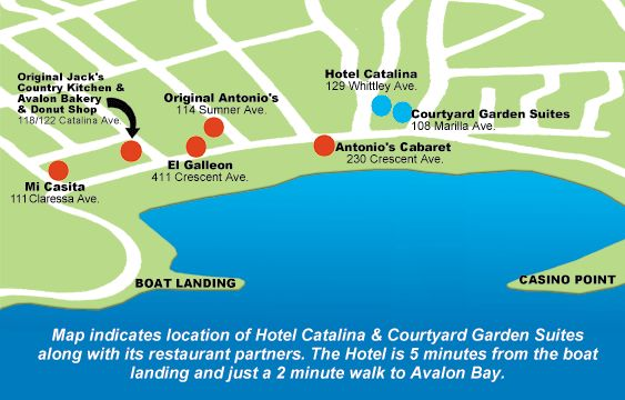 Antonio's Pizzeria & Cabaret Location Map - Avalon, Catalina Island