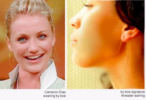 Cameron Diaz wearing By Boe earring