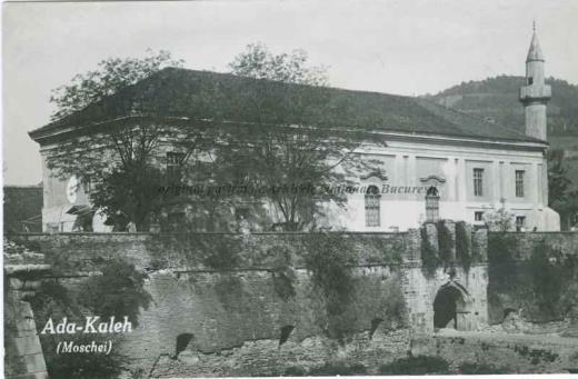 BU-F-01073-5-01949-3 Moschee pe Insula Ada Kaleh (insulă pe Dunăre, acoperită în 1970 de apele lacului de acumulare al hidrocentralei Porțile de Fier I), s. d. (sine dato) (niv.Document)