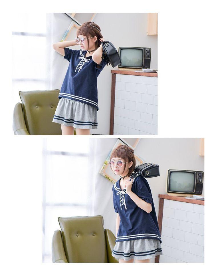 アジアガールストア - セーラー風 レディース 半袖シャツ 森ガール Yahoo!ショッピング
