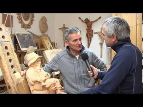 """Girovagando in Trentino incontra lo scultore della Val di Fiemme Giuseppe """"Bepo"""" Mich"""
