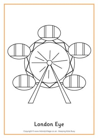 London Eye Colouring Page 2