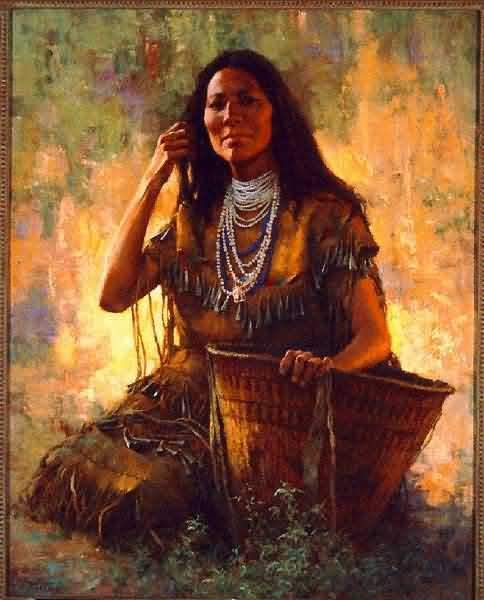 Howard Terpning - Apache Woman