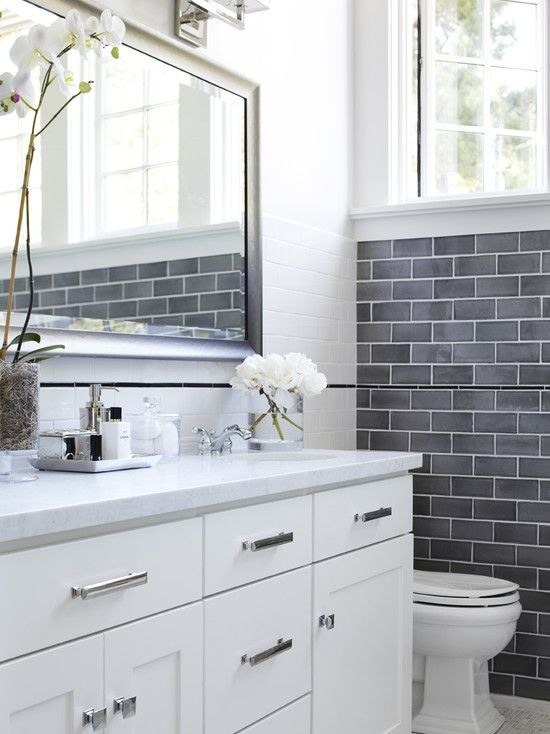 For the bathroom redo...Gray Ceramic Tile And Carpet Design, Pictures, Remodel, Decor and Ideas