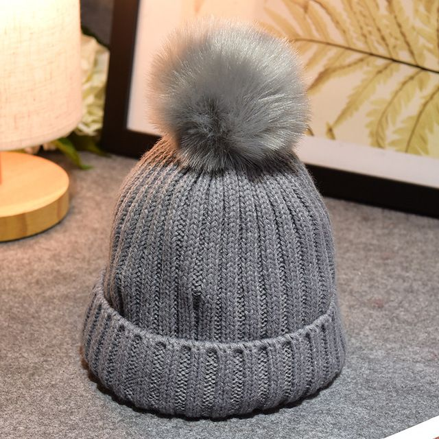 Special price Children Winter Fake Fur Ball Hat Baby Beanies Cap Crochet Kids Knitted Babies Hats Solid Christmas Boy Girl Winter Hat Toddler just only $7.54 with free shipping worldwide  #babyboysclothing Plese click on picture to see our special price for you