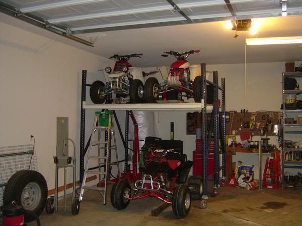 Lift atv to loft google search garage project for Garage auto quad passion
