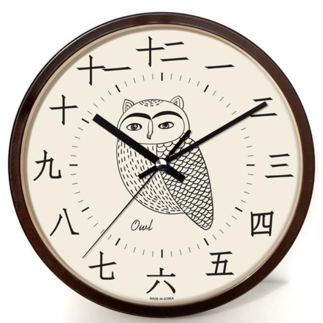 Asian clock decor wall
