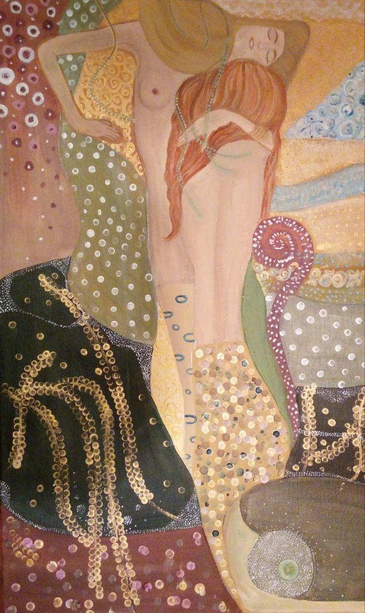 Water serpents wg Gustav Klimt - Anna Winniczuk