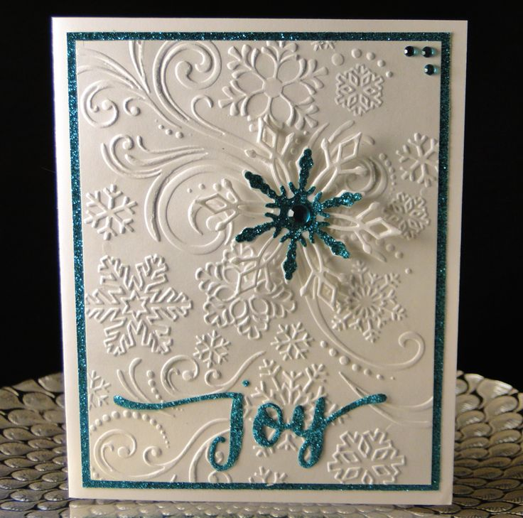 Christmas 2016 Darice EF, W+9 Joy die cut in turquoise glitter paper. Created by Peggy Dollar