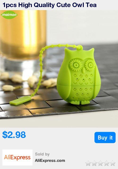 1pcs High Quality Cute Owl Tea Strainer Food Grade Silicone loose-leaf Tea Infuser Filter Diffuser Fun Cartoon Tea Accessories * Pub Date: 03:12 Aug 15 2017