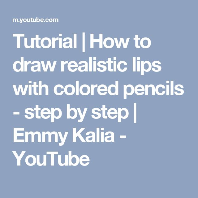 how to draw realistic lips step by step