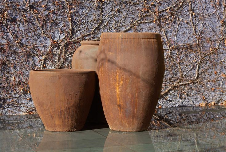 Rust Finish Our Collection Garden Pots Iron Rust