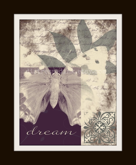 Butterfly art prints set of two 8x10 art by Distressedink on Etsy, $20.00