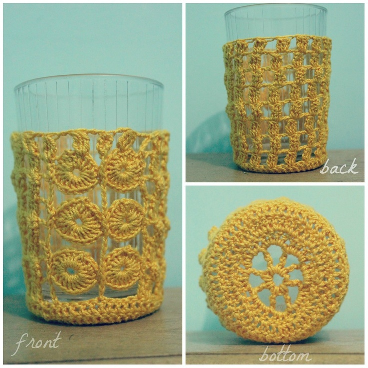 Free Pattern Crochet Wine Glass Holder : 62 best images about Crochet Drinking Glass,Wine Glass ...