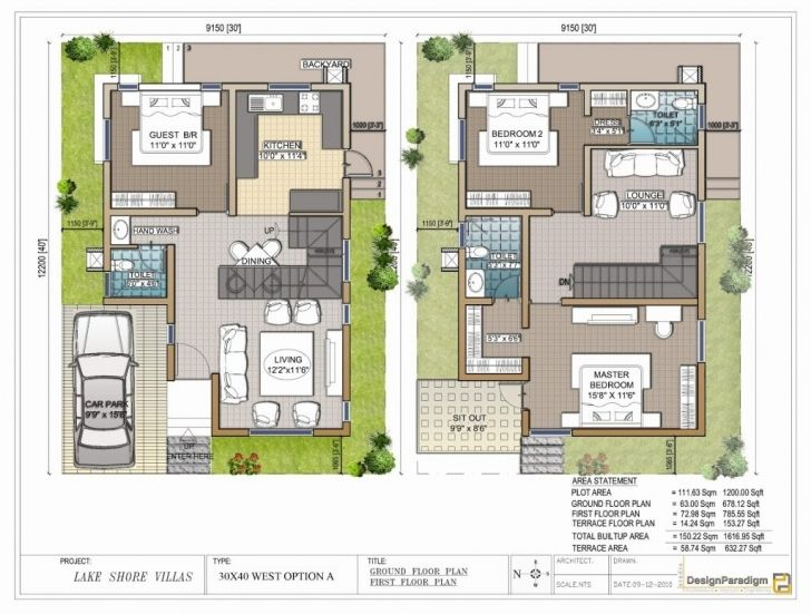 Image Of House Plans 30x30 Duplex Plan Planskill Beautifully Idea For 30x50 30x40 North Facing House Plans Model House Plan West Facing House 20x40 House Plans