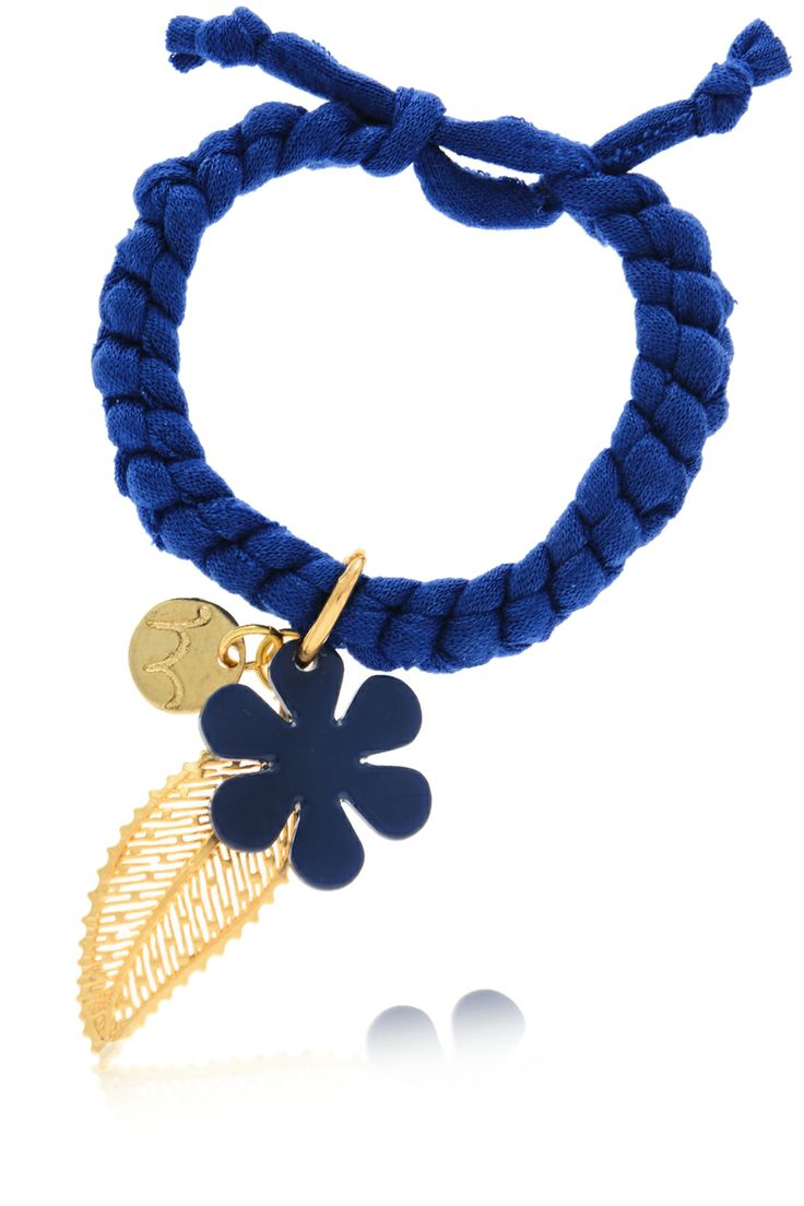 MANCOTÍ  HOJA DE OTONO Indigo Elastic Bracelet